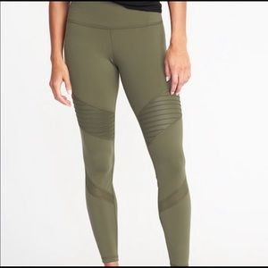 NWT: Old Navy Moto Active Leggings (Olive Green)
